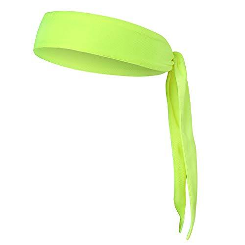 Yanchad Outdoor-Sportschutzausrüstung Einstellbare Sport Stirnband Kopf Krawatte Schweiß Wicking Atmungsaktiv Stretchy rutschfest Unisex Schweißband Kopftuch für Tennis Laufen Workout Karate Yoga-Rot -