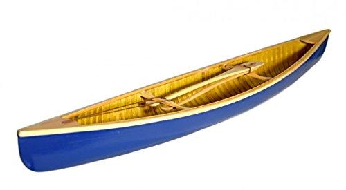 Navyline Holz Modellboot Kanu mit Rudern