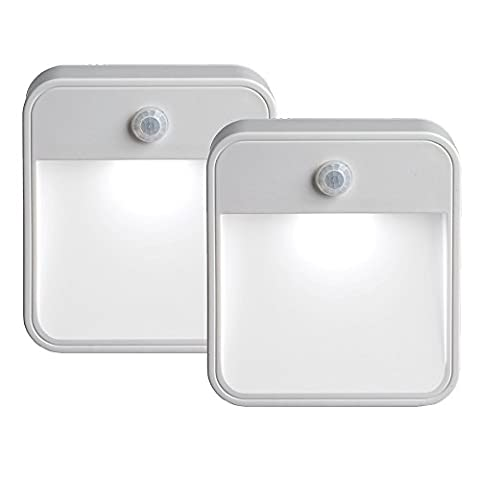 Mr. Beams MB722 Wireless Battery-Powered Motion-Sensing LED Stick-Anywhere Nightlight, 2-Pack