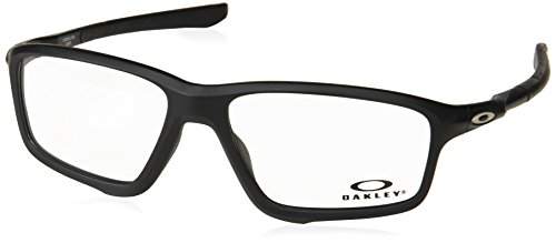 Ray-Ban Herren 0OX8076 Brillengestelle, Braun (Satin Black), 55