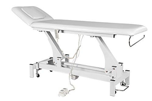 Preisvergleich Produktbild Physa RELAXO Massageliege Kosmetikliege Behandlungsliege (elektrisch,  44-90 cm,  2 Zonen,  Gesichtsöffnung,  inkl. Fernbedienung und Fußpedal) Weiß