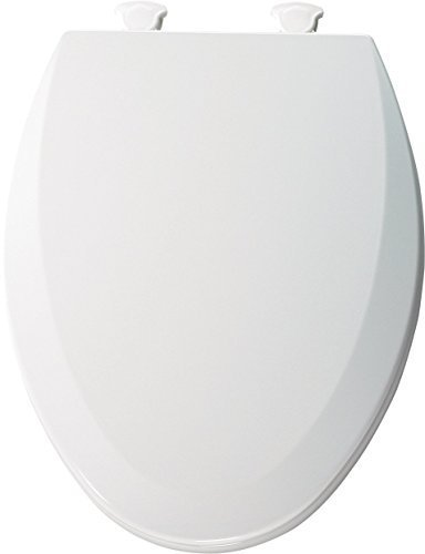 Bemis 1500EC162 Molded Wood Elongated Toilet Seat With Easy Clean and Change Hinge Silver by Bemis