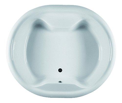 Acryl-Badewanne Perla | 180 x 153 cm | Weiß | Wanne | Rund | Rundbadewanne | Bad | Badezimmer | Acryl | Komfort