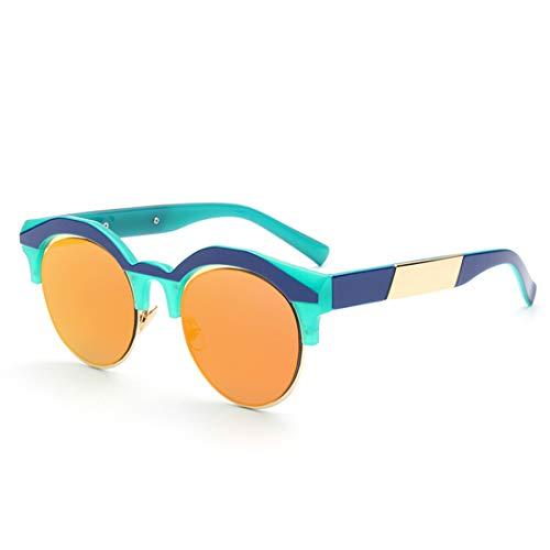 WULE-RYP Polarisierte Sonnenbrille mit UV-Schutz UV-Schutz-Sonnenbrille der halb-randlosen farbigen Objektiv-Dame für das Fahren im Freien der Frauen. Superleichtes Rahmen-Fischen, das Golf fährt