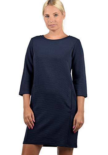ONLY Swane Damen Sweatkleid Sommerkleid Kleid Mit Rundhals, Größe:L, Farbe:Night Sky
