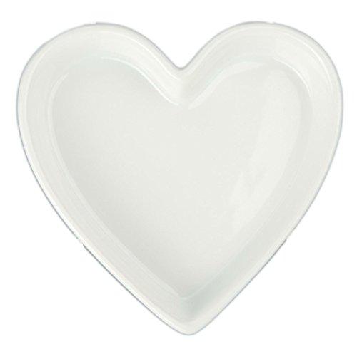 BIA Cordon Bleu 900069 en forme de cœur en porcelaine à quiche, 170,1 gram, Porcelaine,