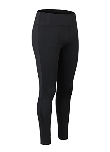 Sport Leggings Damen Yoga Pants Strumpfhose Active Fitness Tights Running Workout Hosen Schwarz
