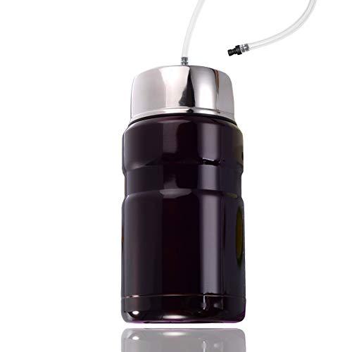 Cafe Bonitas Thermo-Milchbehälter/Edelstahl inkl. Milchschlauch/passend für Kaffeevollautomat Kaffeeautomat