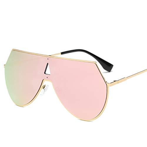 Easy Go Shopping Unregelmäßige männliche und weibliche Sonnenbrillen reflektierende Sonnenbrillen sind für das Fahren und Piloten verfügbar. Sonnenbrillen und Flacher Spiegel (Farbe : Rosa)