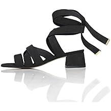 FIND Sandalias de Tiras Atadas Al Tobillo Para Mujer