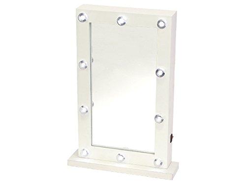 Schminkspiegel Spiegel Standspiegel Holz weiß Kosmetikspiegel Tischspiegel 31 cm x 21 cm von Alsino (Kinder Kommode Spiegel)