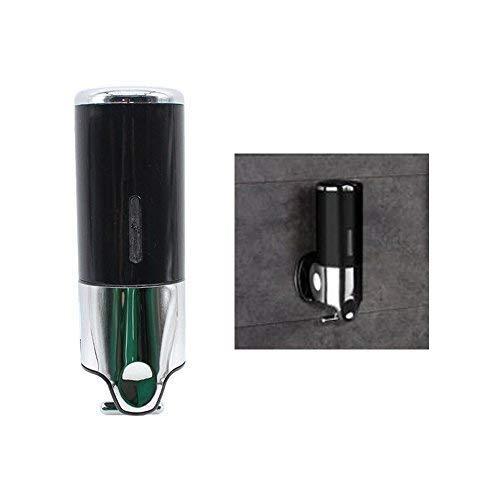 DiLiBee Edelstahl Wandhalterung Seifenspender Shampoo Soap Duschgel Spender Hotel 500ml (schwarz)
