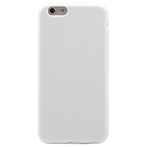 Festes reines Farben-Muster-weiche TPU Fall-Abdeckung für iPhone 6 u. 6S by diebelleu ( Color : Pink ) White