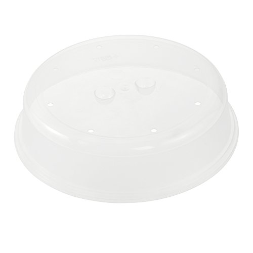 ok Mikrowellenabdeckhaube, Stabiler Kunststoff (PP), Ø 26,5 x 6,5 cm, Natur-Transparent