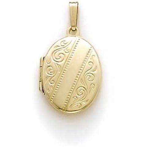 14K oro grande Ovale Medaglione