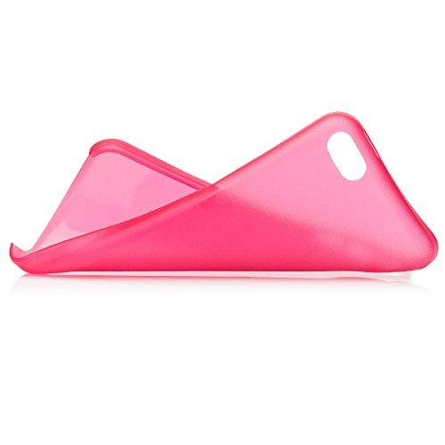 iCues Apple iPhone 5C    Zero Matt Case Weiss   [Display Schutzfolie Inklusive] Extra Leicht sehr Dünn Transparent Klarsichthülle Durchsichtig Klare Klarsicht Schutzhülle Hülle Cover Schutz Rot
