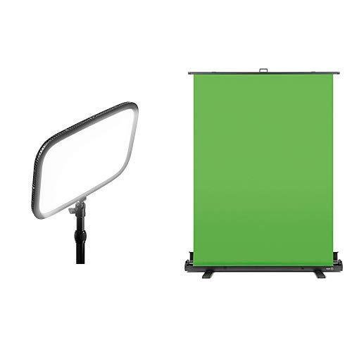 Corsair Elgato Key Light + Elgato Green Screen Ausfahrbares Chroma-Key-Panel Chroma Green Screen