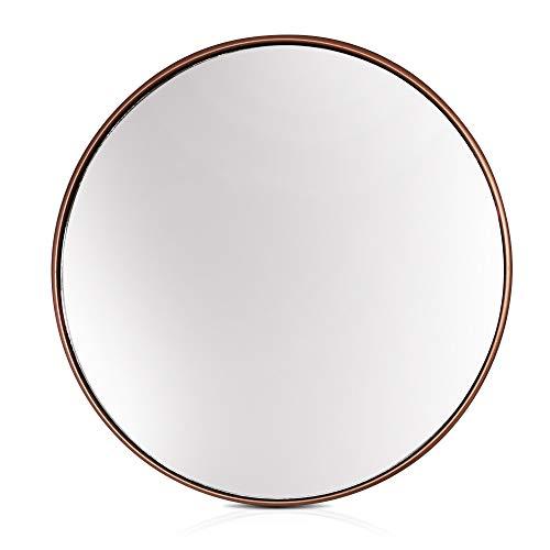 Elegance by Casa Chic - Gran Espejo de Pared Metálico - 58.5 cm de diámetro - Metal Galvanizado ...