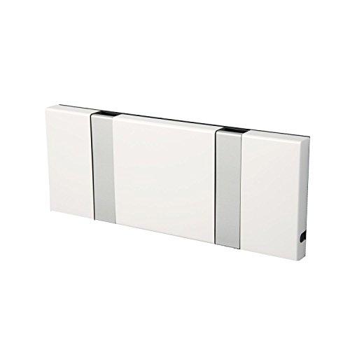 LOCA KNAX - Perchero 2 ganchos blanco RAL 9003/gris/20x8cm