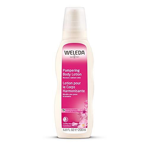 WELEDA Wildrose Verwöhnende Pflegelotion, Naturkosmetik Bodylotion zur intensiven Pflege, Stärkung und Regeneration sensibler Haut, Körperlotion für trockene Haut (1 x 200 ml)