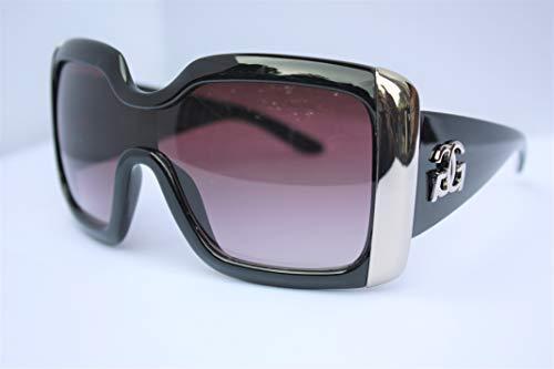 GG Eyewear Retro-GGT001 Women's Designer Sunglasses - Full UV400 Protection - Women Fashion Oversized Sunglasses - Model : GG Retro With FREE Pouch (BLACK)