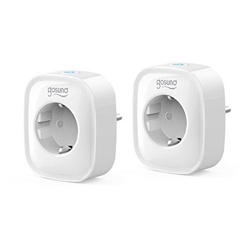 Smarte Steckdose WLAN Steckdose 2er Pack, Stromverbrauch messen Timer Funktion Fernsteurung...