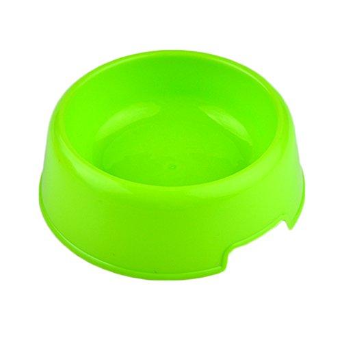 SDYDAY rutschfeste Candy Farbe Kunststoff Hartschale Fressnäpfen Dog Pet Food Bowl für kleine Katze Utensilien Kaninchen Schüssel Bowl Feeding Bewässerung Supplies -