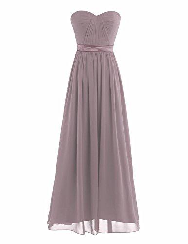iiniim Damen Abendkleid Bandeau Cocktailkleid A-Linie Chiffon Hochzeit Brautjungfernkleider Lang...