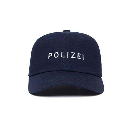 Fünfte Straße Unisex Baseballcap Kappe, Lettering (POLIZEI B -Indigo)