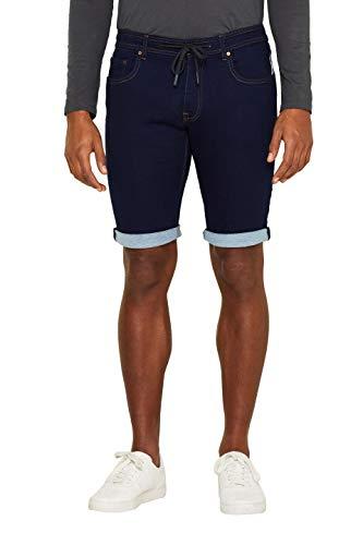 edc by ESPRIT Herren 039CC2C010 Shorts, Blau (Blue Rinse 900), W(Herstellergröße:32)