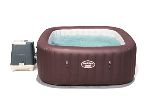 Lay-Z-Spa Maldives Luxury Hot Tub, HydroJet Pro Massage System Inflatable Spa with LED Lights and Foot Massager, 5-7 Person