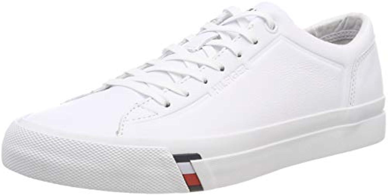 Tommy Hilfiger Corporate Leather scarpe da ginnastica, ginnastica, ginnastica, Scarpe da Ginnastica Basse Uomo | scarseggia  | Uomo/Donne Scarpa  e87a4a