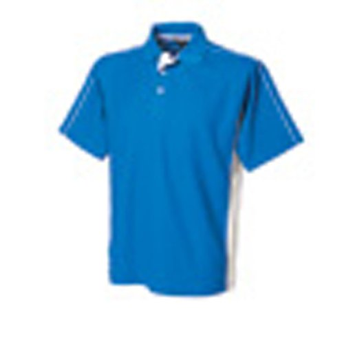 Finden & Hales Mens Sports Performance Short Sleeve Cotton Polo Shirt Royal/White