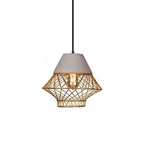 Zxt nordic gabbia di ferro d'oro creativo lampadario semplice personalità negozio di abbigliamento ristorazione negozio soggiorno cemento ambientale illuminazione a led decorazione (colore : oro)