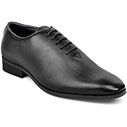 tresmode Men's Black Formal Shoes