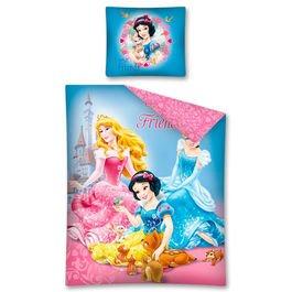 Copripiumino Principesse Disney 160x200 Cm Federa 70x80 Cm Cotone Singolo