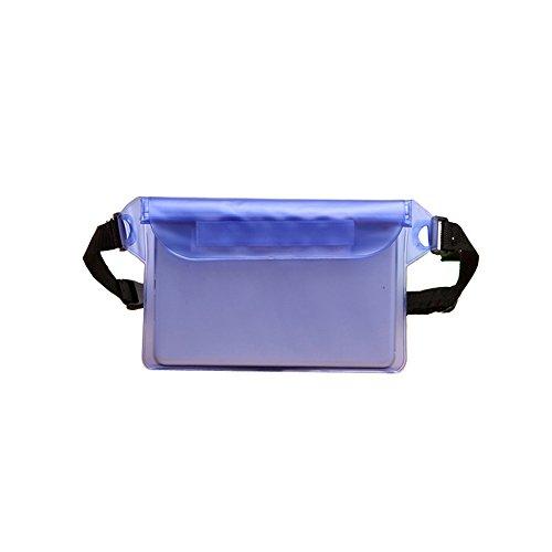 Wasserdichte Tasche Hülle zum Schwimmen Schlüssel Handy Leicht Beutel Handyhülle Schwimmfähig Strand Beachbag für Wertsachen mit Gurt Pink Blau By Alxcio - Blau