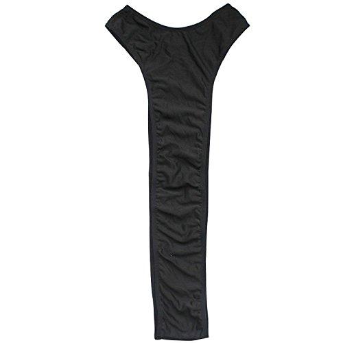 Acizi Männer Mankini Stretchy Unterwäsche Singlet Trikot Body Bodybadeanzug (Schwarz)