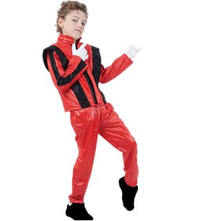 Kid Rock Star Costume - Superstar. Red Jacket/Trousers
