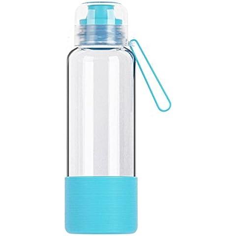 U-CUP Botella de agua de cristal portátil la oficina Aire Libre Libre de BPA,480ML/16oz