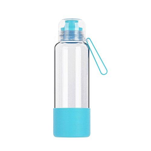 U-CUP Botella de agua de cristal portátil la oficina Aire Libre Libre