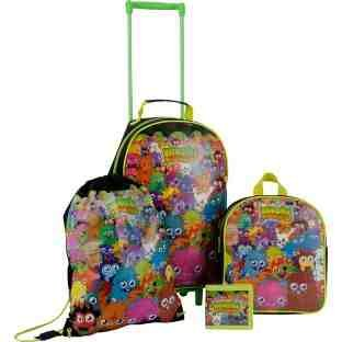 Image of Moshi Monsters 4 Piece Children's Luggage Set (91JJC03)