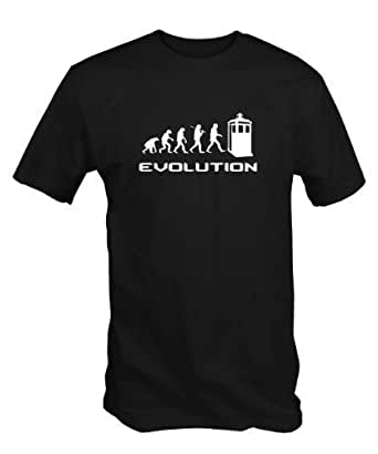 Timelord Evolution T Shirt (in Navy , Black or Red) (XXL, Black)