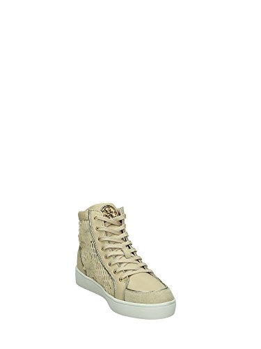 Guess Sneaker Alta Donna Stringata Grace2 Rialzo Cm 5 Pizzo beige Beige