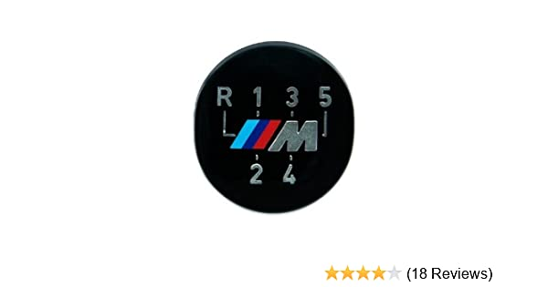 BMW Genuine M 5-Speed Gear Knob Badge Emblem Black E36 3 Series 25111221613