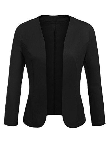 Imposes Damen Eleganter Kurzer Blazer Taillierte Baumwolle Business Jacke
