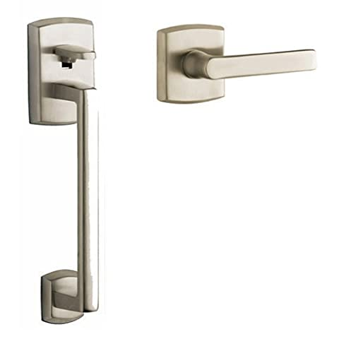 Baldwin 85386056ACLH Lifetime Satin Nickel Soho Sectional Entry Left Handed Handle Set Kit with Interior Soho Lever by Baldwin