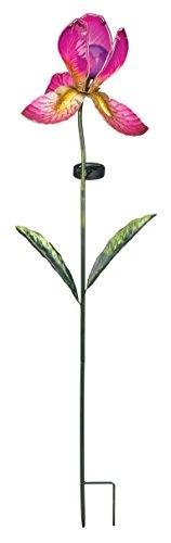 creekwood-regal-art-gift-solar-iris-flower-garden-stake-fuschia