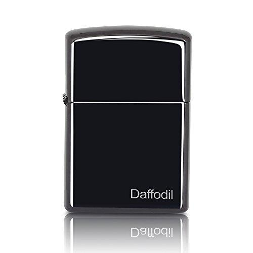 Daffodil EC100 - Briquet Électronique à Épreuve du Vent - Briquet USB Sans Flamme - Batterie Interne Rechargeable via USB - No