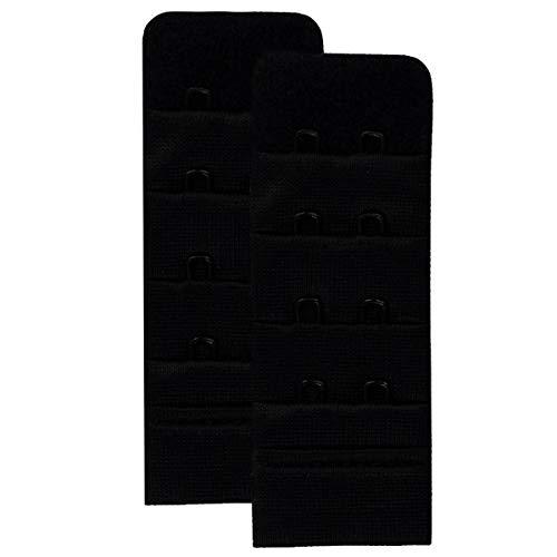 Skin Wrap Accessories BH Verlängerung mit 2 Haken (3.0 cm breit) in Schwarz im 2er-Set